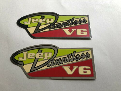 Decal Jeep Jeepster CJ5//6 Dauntless 225 V6 valve cover decal set