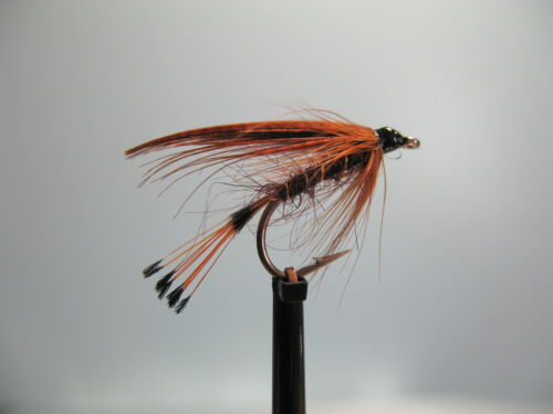 3 x MALLARD AND CLARET WET TROUT FLIES sizes10,12,14  available FROM MGT TACKLE