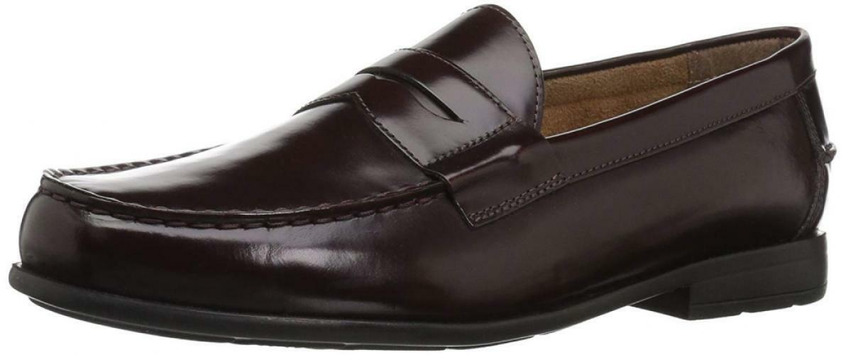 Nunn Bush Men's Drexel Loafer, Burgundy, 8.5 W US