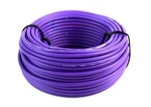 Audiopipe 50 Feet 14 Gauge Purple Primary Remote Wire Car Auto Power Cable