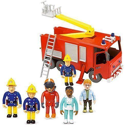 Fireman Sam Fire Engine friction Jupiter /& 5 figurine articulée Playset Toy