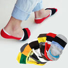 6 Pairs Men Loafer Boat Invisible No Show Nonslip Liner Low Cut Cotton Socks