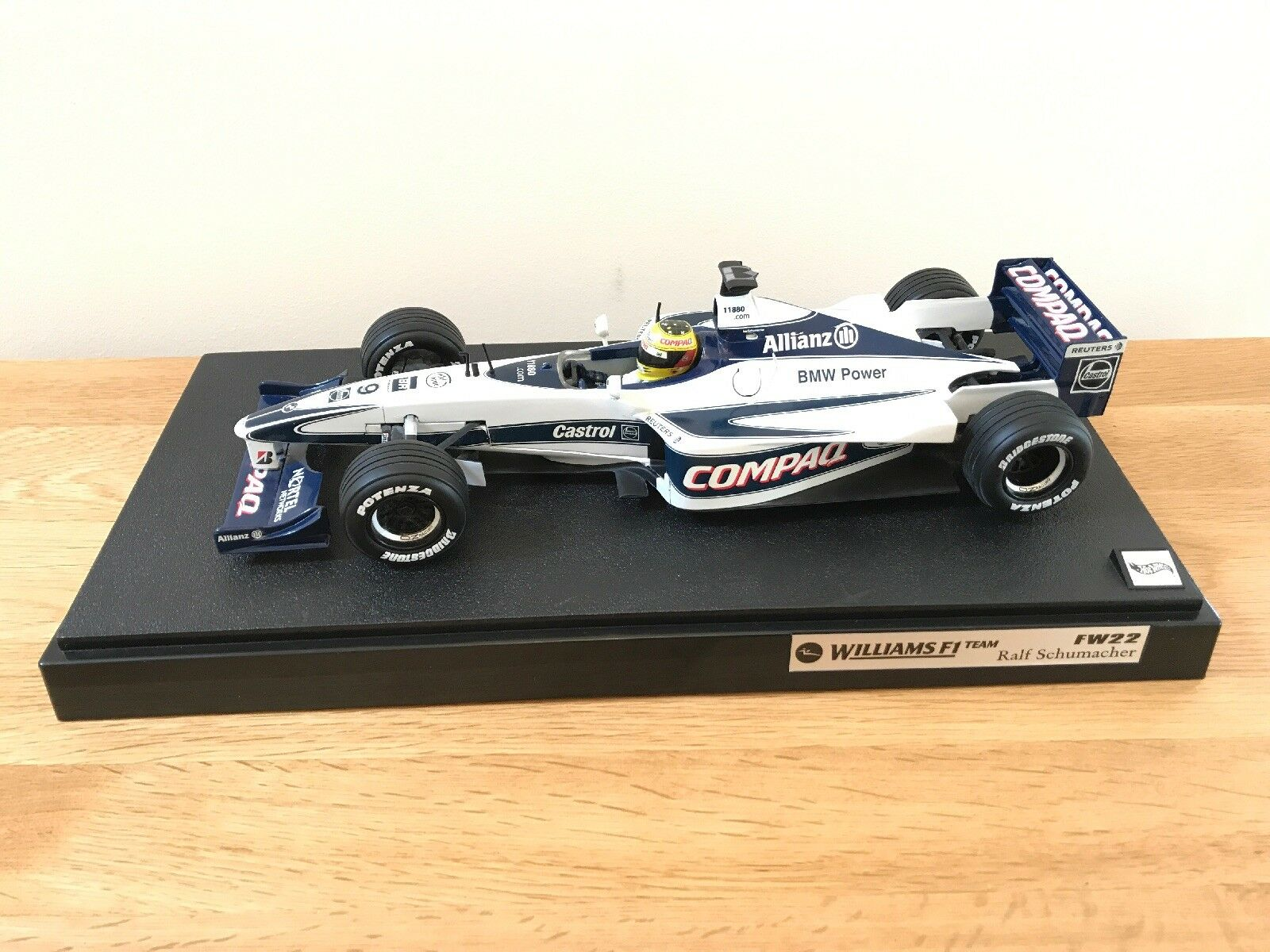 1 18 Hot Wheels 26735 Williams FW22 Ralf Schumacher F1 2000