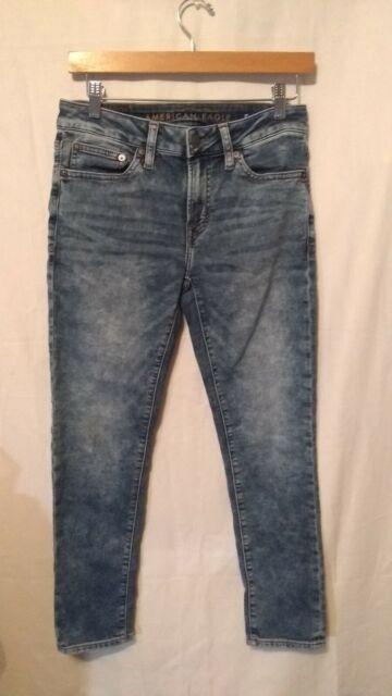 American Eagle Skinny Jeans Core Flex Destroyed Medium