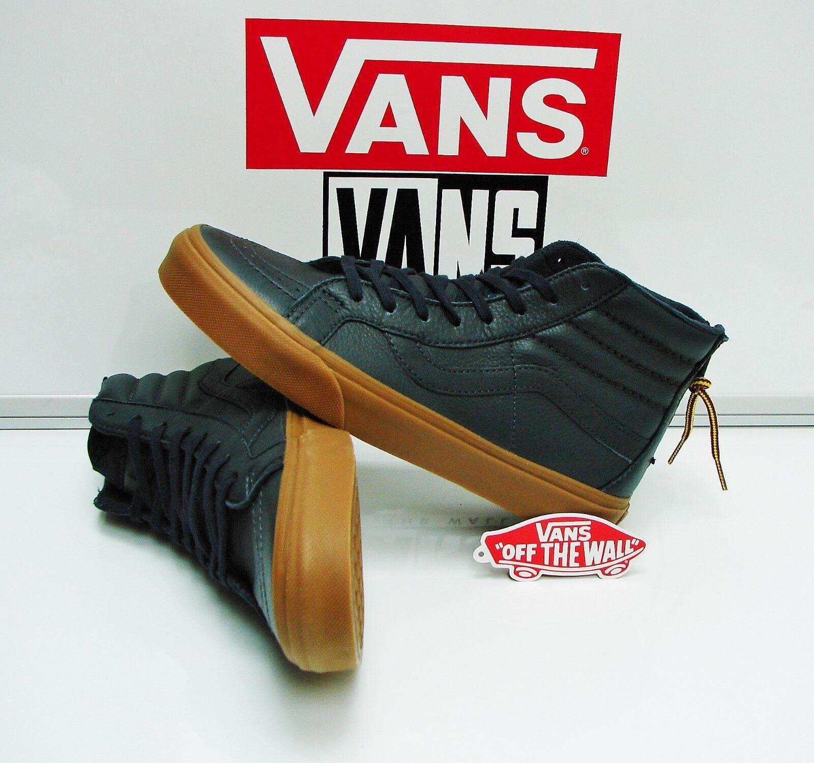 Vans SK8 Hi Reissue Zip Hiking Navy Gum VN0004KYJUU Men's Size: 8