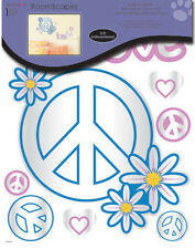 REFLECTING PEACE SIGNS MIRRORED wall sticker 9 lightweight acrylic mirror decal