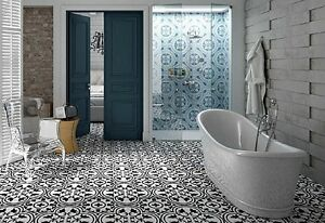 Image Is Loading Tile Deals Samples Parisa Grey Vintage Moroccan Victorian