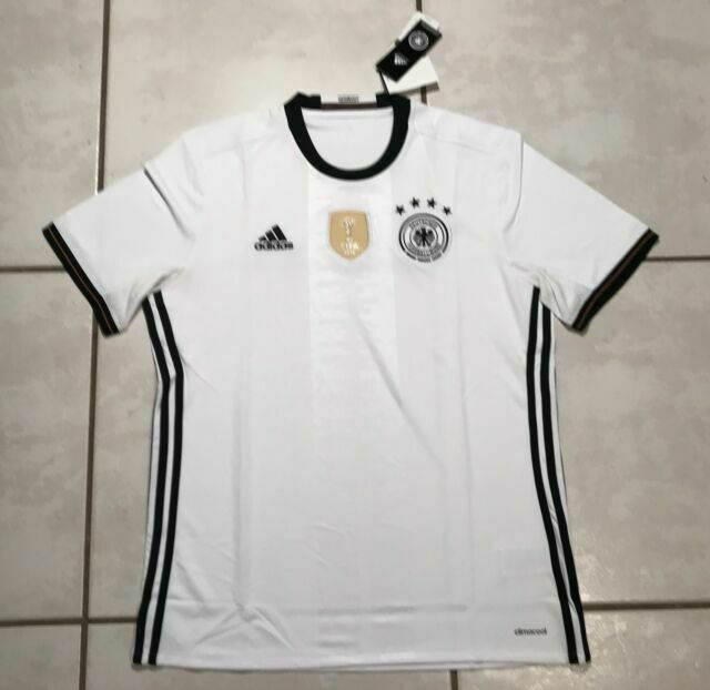 adidas Germany Home Soccer Jersey 2016 White AI5014 Euro Cup Mens ...