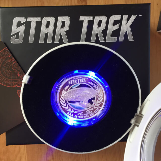 Australian Silver Coin STAR TREK Proof Next Generation Enterprise NCC-1701D 1oz