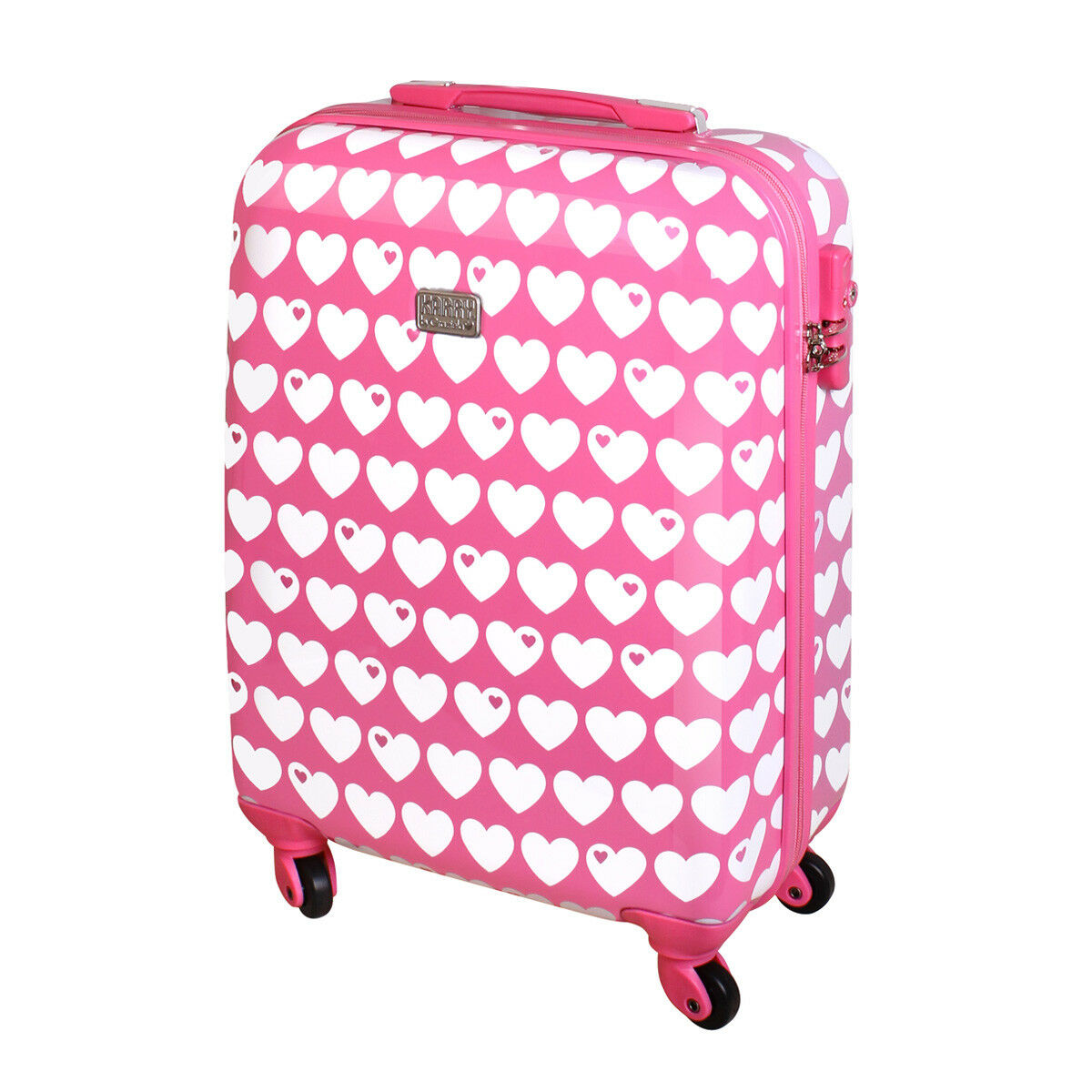 Coque rigide Valise Voyage bagages bagages main à main bagages 30 L Rose Coeur byGraziela b27ff2