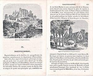 28 Nogent-le-Rotrou 1860 guide (8 p.) + 2 xylogr. orig. Château + Saint Hilaire ZEWi7NYK-08064712-416072499