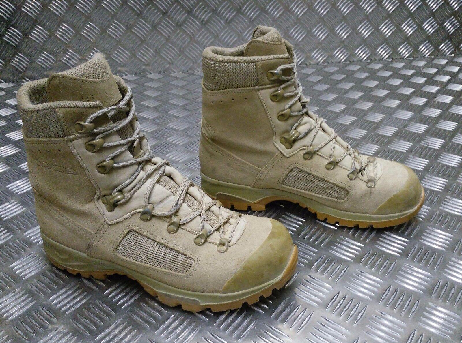 Genuino Ejército Británico LOWA Elite Mod desierto Assault de Issue bota de Assault combate grado 2 ff9600