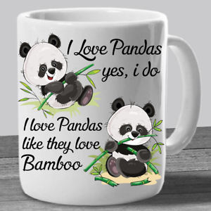 About Panda Coffee Mug Details Bear Mugs Gifts Cute I Pandas Cup Love RqL5A34j