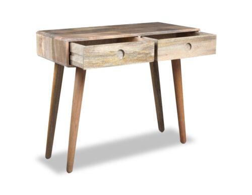 LIGHT VINTAGE MANGO CONSOLE TABLE V8L