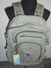 20 3500  AERLIS Herren Rucksack Tasche grün Bag Trekking Segeltuch NEUWARE