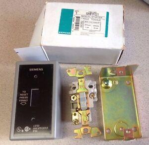 Lot of 3 Siemens SMFFG1 Manual Starters 1 Pole Toggle