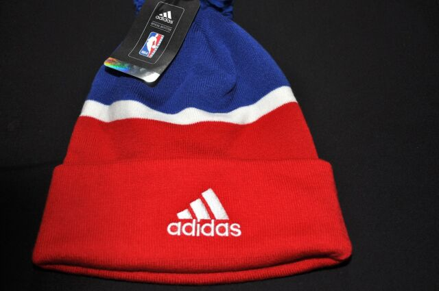 adidas Philadelphia 76ers Sixers Cuffed Knit Pom Beanie NBA for sale ... 56e96723e6f6