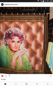 Image Is Loading Maude Bea Arthur Portrait Shower Curtain Golden Girls