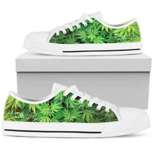 3198e50755 Dank Master Men Shoes custom green weed leaf marijuana cannabis low ...