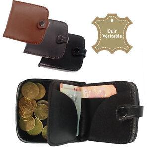 Porte-monnaie-cuvette-avec-rangement-a-billets-en-CUIR-Homme-bourse