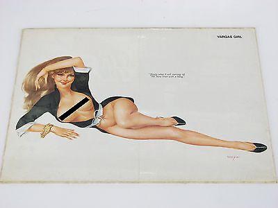 Vargas girl Pinup poster Calendar page  40's 50's original
