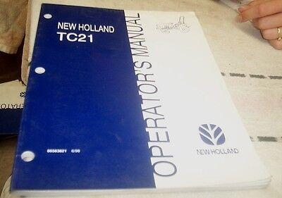 Industrial Media Realistic 1998 New Holland Tc21 Tractor Operators Manual