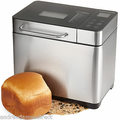 Andrew James Digital Automatic Bread Maker Machine In Stunning Stainless Steel
