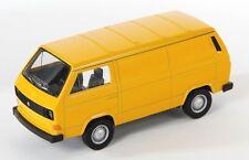 Spedizione LAMPO VW t3 Van GIALLO/YELLOW Welly Modello Auto 1:34-1:39 NUOVO & OVP