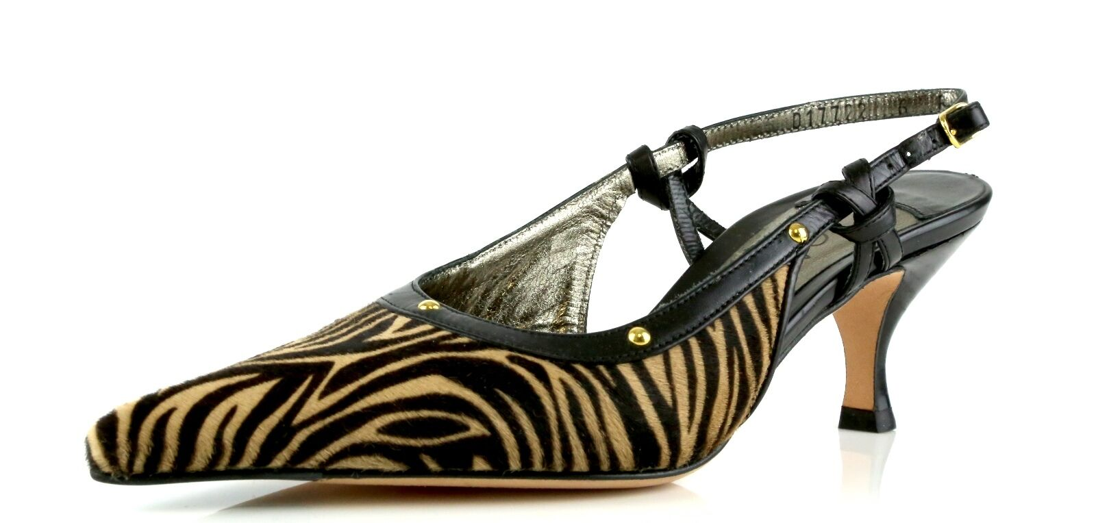 Cole Haan Collection NERINE Zebra Print Slingback Heels 9577 Size 6 B NEW  350
