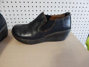0ebdfab7a Image is loading Womens-b-o-c-Born-Concepts-wedge-shoes-CCAE16-black-