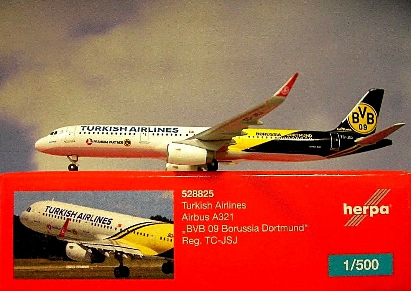 Herpa Herpa Herpa Ali 1 500 Airbus A321 Turkish Airlines Bvb 09 528825 Modellairport500 44c6c4
