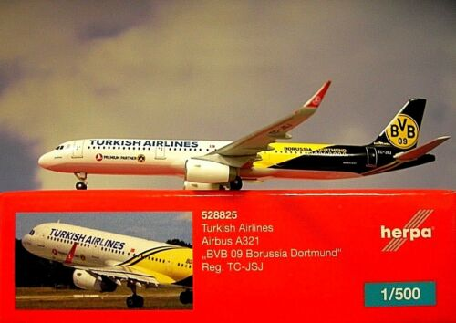 Herpa Wings 1:500 airbus a321 Turkish Airlines BVB 09 528825 modellairport 500