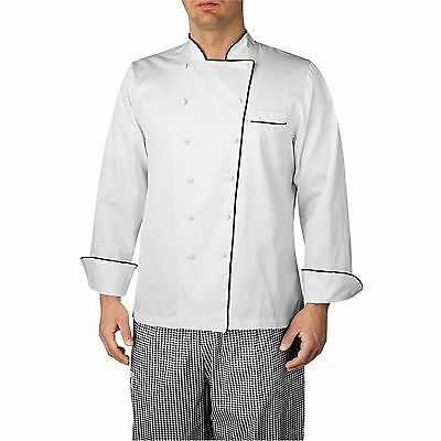 NEW CHEFWEAR White Men/'s Classic Executive Chef Coat Size XS,XL-5XL