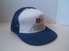 Distressed Stained VTG Snapback Trucker Hat Ultramar Gulf Together Cap Gas Oil