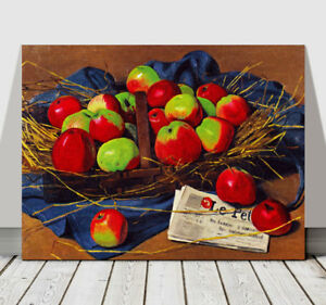 FELIX VALLOTTON - Apples - CANVAS ART PRINT POSTER - Fruit - 10x8""