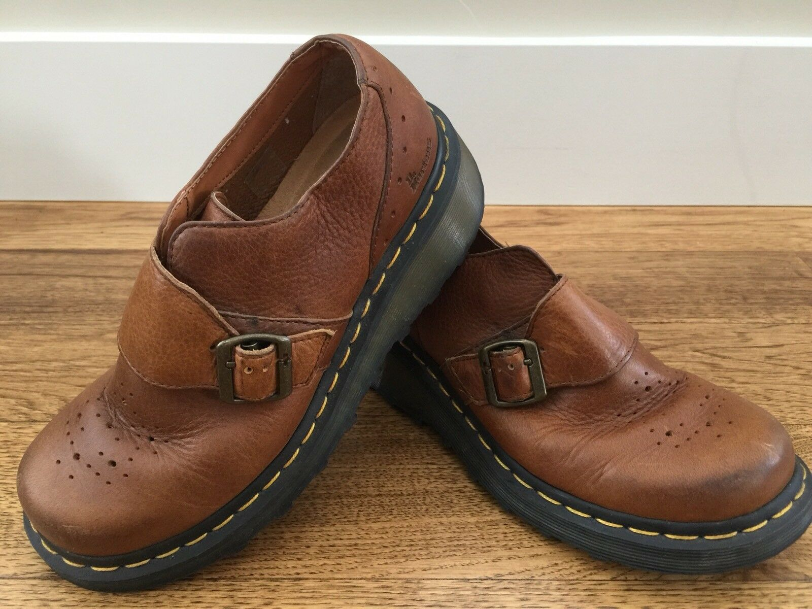 Doc Dr Martens marrone Pelle Buckle Loafers UK size 6 ** US size 7M
