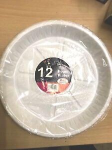 Image is loading STRONG-WHITE-PLASTIC-DINNER-PLATES-9-034-Party- & STRONG WHITE PLASTIC DINNER PLATES 9