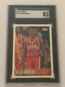1996-97 Topps Rookie Card #171 Allen Iverson RC SGC 8 NM-MT