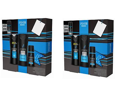 (2) AXE 4-pc Phoenix Holiday Gift Set (Body Spray ...