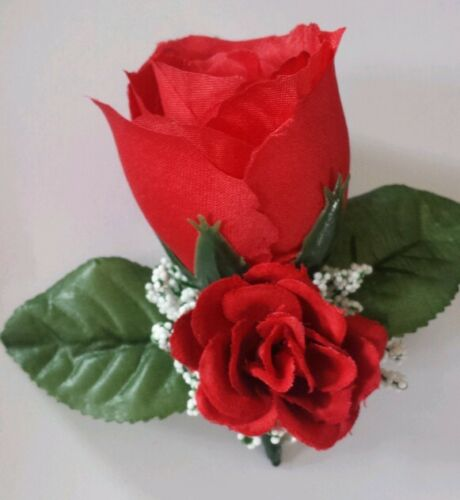 Rose Boutonniere*Corsage*Red *Groom *Prom* Party* Quinceanera love wedding