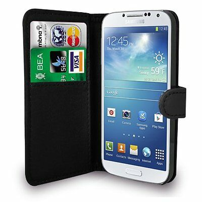 Black Flip Leather Wallet Stand Case For Various Samsung Galaxy Mobile Phones