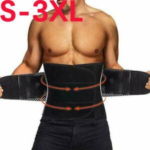 Men-Women-Sweat-Waist-Trainer-Back-Support-Fat-Burner-Shapewear-Cinchers-Belt-US