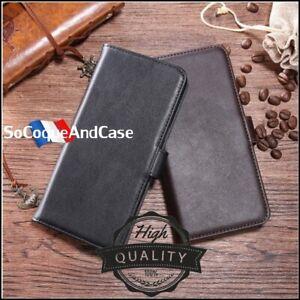 Etui-coque-Housse-Cuir-Veritable-Genuine-Leather-wallet-case-Huawei-Y5-2019