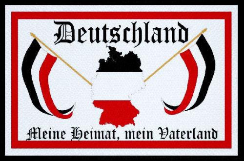 Ricamate Germania mio padre Paese Bandiera Bandiera aufbügler Patch 9 x 6 cm