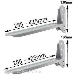 Black Stand Brackets for RUSSELL HOBBS Microwave Wall Extendable Adjustable