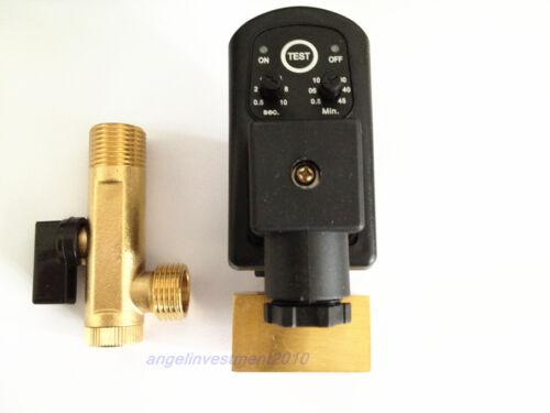 Compresor Auto condensado de cerebros Temporizador válvula de solenoide 220v 1/2