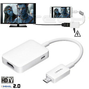 itm MHL  Adapter for Samsung Galaxy Note N Micro USB to HDMI HDTV