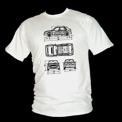 Koolart Rally Legend motif avec 1987 LANCIA DELTA INTEGRALE HF Voiture T-shirt Homme