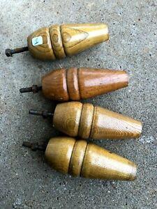 n°1) lot 4 pieds en bois / lit, meuble vintage armoire, commode, enfilade  etc..