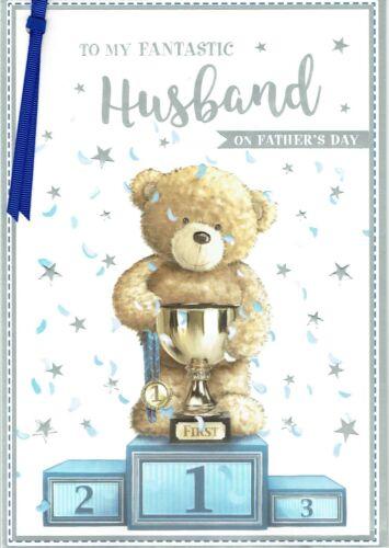 Fantastique Mari-Grande Qualité Père/'S Jour Carte Fête des Pères ourson